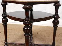 Marble Oak Side Table Continental Queen Anne (7 of 10)