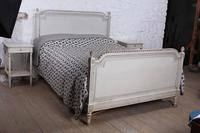 Rare Small Super King Empire French Painted Bed & Bedsides