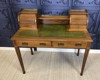 Victorian Inlaid Mahogany Writing Desk (5 of 20)