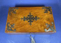 Victorian Brassbound Walnut Jewellery Box (3 of 9)