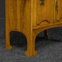 Arts & Crafts Oak Washstand with Marble Top (2 of 14)