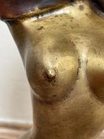 """Art Deco French Cold Painted Gilt Bronze Posing """"Mystery Nude Lady"""" c.1930 (11 of 41)"""