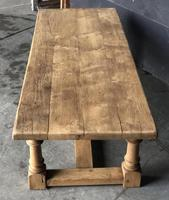 Antique Bleached Oak Coffee Table (7 of 9)