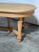 Huge Bleached Oak French Extending Dining Table (15 of 24)