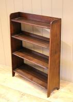 Small Graduated Open Oak Bookcase (2 of 10)