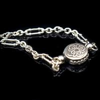 Antique Victorian Sterling Silver Albertina Albert Watch Chain Bracelet with Tassel and Drum Charm (5 of 14)
