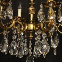 Italian 6 Light Gilded Antique Chandelier (8 of 10)