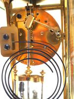 Fine  Antique French Table Regulator with Compensating Pendulum 8 Day 4 Glass Mantel Clock (9 of 11)