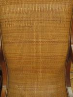 Vintage British Colonial Style Teak & Cane Plantation Chair & Footstool (4 of 17)