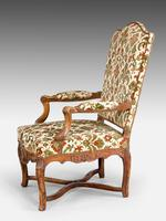 Pair of Well Carved Louis XV Period Fauteuils (2 of 6)