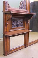 Antique Large Victorian Oak Overmantle Wall Mirror (7 of 9)