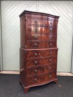 Quality Mahogany Serpentine Chest on Chest