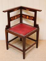 Mahogany Art Nouveau Corner Chair c.1900 (4 of 8)