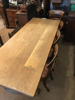 Good Solid Oak Large Refectory Table (7 of 7)