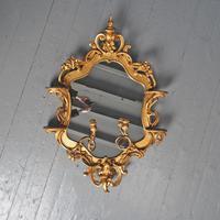 Victorian French Giltwood Girandole Mirror (2 of 10)
