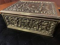 Erhard & Sohne Brass Table Casket (3 of 8)