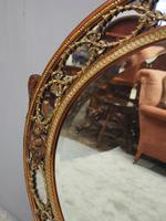 Gilded Walnut Oval Overmantel Mirror (4 of 11)