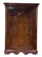 Fine Queen Anne Walnut Veneer Hanging Corner Cupboard (3 of 8)