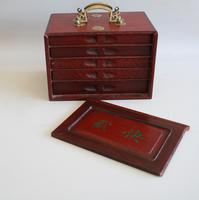 Mah Jong Set in a Decorative Wooden Box (4 of 16)