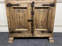 French Gothic Oak Rustic Cupboard or Wardrobe (13 of 22)