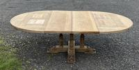 Large Round French Bleached Oak Farmhouse Table with Extensions (33 of 38)