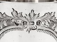Edwardian Silver Goblet Engraved on the Bowl with Scrolls, Floral Motifs and Garlands (5 of 6)