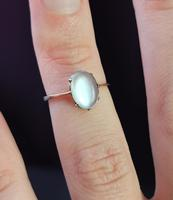Antique Art Deco Moonstone Cabochon Ring, 9ct Gold (3 of 13)