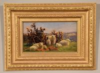 """Oil Painting pair by William Sidney Cooper """"Sheep in a Coastal Landscape"""" (5 of 6)"""