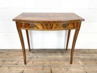 Reproduction Mahogany Bow Front Side Table (2 of 9)