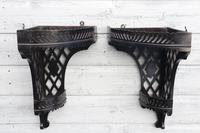 Aesthetic Movement, pierce-work corner shelves with galleries (a pair) c.1880 (2 of 35)