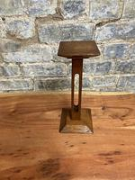 1920s  Oak Pedestal Display Stand (5 of 5)