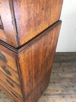Antique 19th Century Oak Campaign Chest with Cupboard (15 of 17)