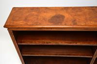 Antique Victorian Burr Walnut Double Open Bookcase (8 of 12)