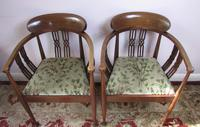 Pair of Edwardian Tub Chairs (2 of 5)