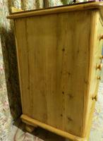 Small Edwardian Pine Chest of Drawers Stripped & Bees-waxed (4 of 9)