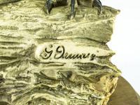 Rare Porcelain Long Eared Owl on Log (5 of 6)