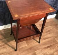 Edwardian Inlaid Mahogany Sewing Box (10 of 11)