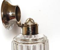 Silver Mounted Fluted Glass Scent Bottle with Blue Guilloche Enamel Cap (2 of 5)