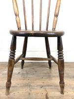 Set of Four Victorian Elm Penny Chairs (5 of 11)
