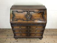 Early 20th Century Antique Oak Geometric Bureau (M-1657) (3 of 17)