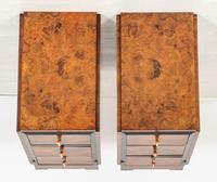 Stylish Pair of Burr Walnut Art Deco Bedside Cabinets (7 of 7)