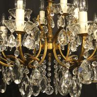 Italian Gilded 12 Light Double Tiered Antique Chandelier (6 of 10)