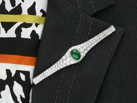 37.17ct Emerald & 6.55ct Diamond, 18ct White Gold Jewellery Set - Antique French c.1925 (19 of 23)