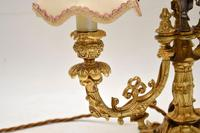 Antique French Gilt Metal Candelabra Table Lamp (9 of 9)