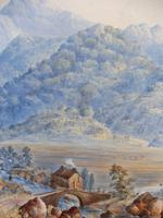 Watercolour The Glen Monogrammed A M 1863 (10 of 12)