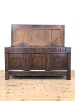 18th Century Carved Oak Blanket Box (4 of 11)