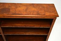 Antique Victorian Burr Walnut Double Open Bookcase (9 of 12)