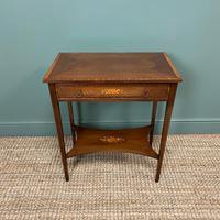 Elegant Edwardian Inlaid Mahogany Antique Side Table (4 of 6)