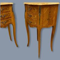 Pair of Marquetry & Marble Top Side Tables (7 of 8)