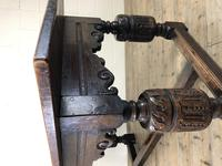 Antique Carved Oak Refectory Dining Table (14 of 15)